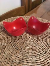 Poached Egg Silicone Cups x2 Red Cooking from Dunelm