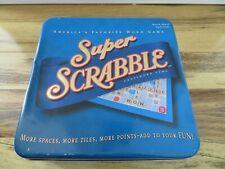2004 Super Scrabble Classic Board Game More Tiles Spaces Scoring Crossword Tin