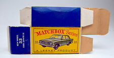"Matchbox RW 33B Ford Zephyr leere originale ""D2"" Box"