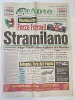 CORRIERE DELLO SPORT 15-5-1988 VIGILIA 11° SCUDETTO MILAN CAMPIONI D'ITALIA