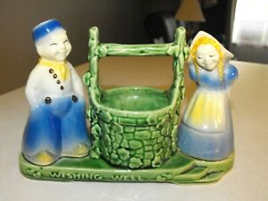 Vintage Shawnee Pottery Dutch Boy and Girl at Wishing Well. #710