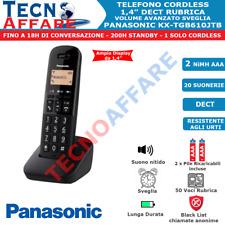 Telefono Cordless Retroilluminato Dect Rubrica Sveglia Fisso Casa Panasonic