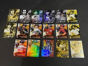 2021 TOPPS FIRE BASEBALL HOBBY & GOLD INSERT LOT OF 17 CARDS LOADED! NEW! HOT!