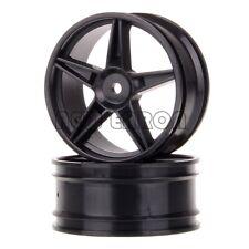 Black Front Wheel Rim Wheel Hub 06008 For Hsp Hpi Redcat Rc 1/10 Off-Road Buggy