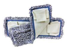 "12 16"" Microfiber Closed Loop Pocket Mop Pads Refill 400GSM (Blue/White)"