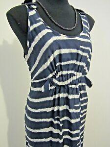 NEW WITH TAGS! Stella McCartney Silk Navy Striped Dress Size 10