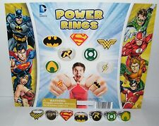 Batman Superman Justice League Superhero Power Ring Toy Set of 7