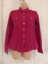Boden size 8 dark pink fitted shirt
