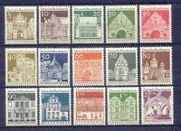 Germany 936-51 MNH OG 1966-69 Various Gates and Castles Full 15 Stamp Set VF