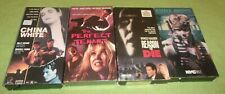 4 Action VHS Lot Reason to Die Steele Justice China White Perfect Tenant Horror