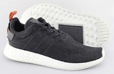 Men's ADIDAS ORIGINALS 'NMD R2' Black Knit Sneakers Size US 13 - D