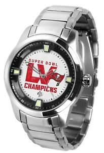 Tampa Bay Super Bowl LV Watch Game Time Titan Buccaneers Wristwatch