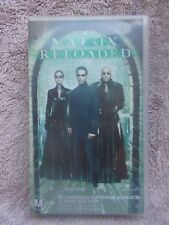 MATRIX RELOADED(VILLAGE ROADSHOW No 103795)VHS TAPE M(LIKE NEW)