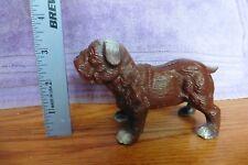 Cast Iron Brown Bull Dog ? Pug Dog Canine Coin Piggy Bank door stop paper weight