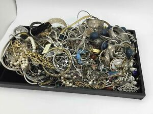 Silvertone Assorted Jewelry Scrap (7.6lbs)