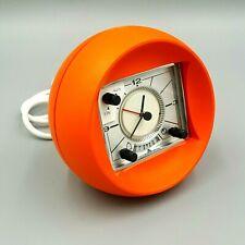Original Vintage Rombach COMBI CLOCK Ro100 Kugel Uhr Wecker ⏲ Retro 70er Orange