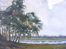 Pintura de acuarela Ian McIlhenny escocés enumerados artista