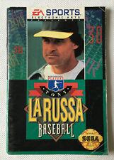 Tony La Russa Baseball - Instruction Manual Booklet Only - Sega Genesis