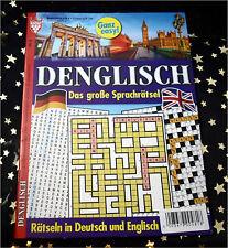 NEU: Das große SPRACH RÄTSELHEFT - Rätseln in Deutsch und Englisch * DIN A4