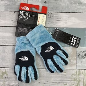 North Face Girls' Osito Etip Glove Light Blue Size Small