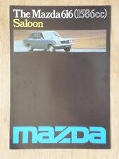 MAZDA 616 SALOON orig 1977 UK Mkt Sales Brochure