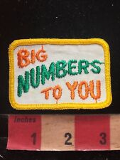 Vtg CB RADIO Patch C.B LINGO - BIG NUMBERS TO YOU 87I4