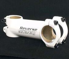 REVERSE XC MTB / ROAD RACING BIKE Manubrio Stem 110mm x 31.8 mm Bianco