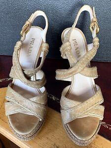 Prada Womens Shoes Platform Sandels In Very Good Condition