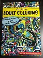 KAPPA ADULT ACTIVITY CREATIVE ADULT COLORING BOOK, NEW INTRICATE DESIGNS RELAX