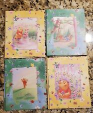 ~ Disney ~ Winnie The Pooh ~ Colorful Whimsical Blank Note Greeting Cards x 4