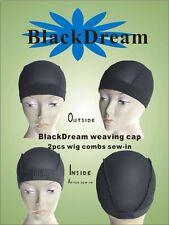 FULL Stretch tessitura CAP per fare parrucche con due Sew in pettini anteriore e posteriore
