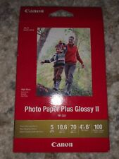 "Canon Photo Paper Plus Glossy II, 4"" x 6"" Inkjet Printer Paper, 100 sheets pack"