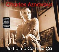 CHARLES AZNAVOUR - JE T'AIME COMME CA - 57 ORIGINAL RECORDINGS (NEW SEALED 3CD)