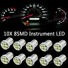 6K White LED 1819 B9AS Speedo Dash Gauge Instrument Panel Light Bulb For Buick