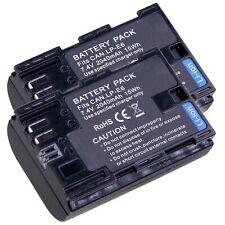2x LUMOS Akku für Canon EOS R 80D 70D 60D 5D II III IV 6D 7D LP-E6N mit Infochip