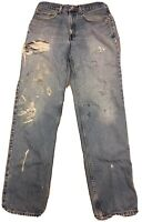 Levi's 550 Relaxed Fit Jeans 32 34 Distressed From Wear Destroyed