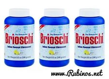 Brioschi - Effervescent 8.5oz Bottle, Lemon Flavored Antacid (3 PACK)