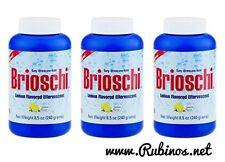 Brioschi - Effervescent 8.5oz Bottle, Lemon Flavored Antacid (3 PACK)