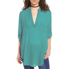 PLUS SIZE Womens Chiffon Loose Long Sleeve Casual Blouse Shirt Tops Blouse S-5XL