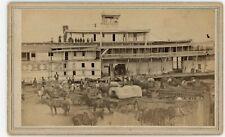 Civil War Baton Rouge CDV Steamer Natchez Busy Scene McPherson & Oliver c1863