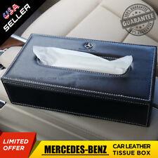 Universal Mercedes Leather Car Tissue Box Cover Napkin Paper Holder Dispenser