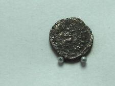 Byzantine coin of JUSTINIAN I,AD527-565. AE Decanummium, 13mm; 1.29g. Scarce.