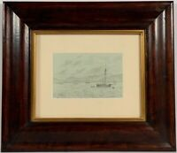 Listed Artist William Stanley Haseltine (1835-1900) Signed Pencil Drawing