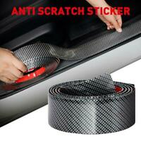 Carbon Fiber Car Door Plate Sill Scuff Cover Anti-collision Strip Sticker