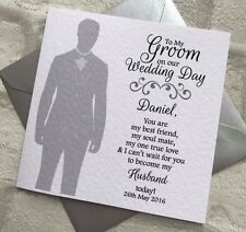 Personalised To My Groom Wedding Day Card Husband to be
