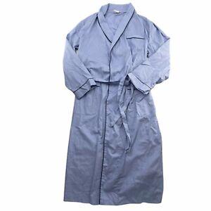 Brooks Brothers Robe Mens Medium Blue 100% Cotton Wrinkle Resistant