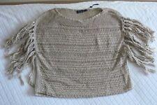 POLO Ralph Lauren sweater Top Sz. S Beige fringes NWT $119 Christmas present!