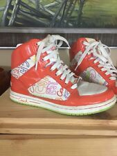 Coach Norra Signature Hi Tops WOMEN'S SIZE 7 M Shoes Graphic Orange