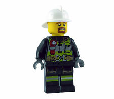 Lego Firefighter with Beard White Helmet City cty635 New