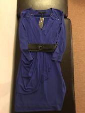 BCBG BCBGMAXAZRIA Myrna Draped Jersey Dress , Royal Blue, XXS. MSRP $268